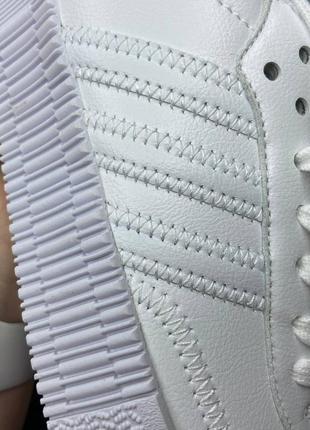 Adidas samba white кроссовки адидас самба обувь взуття кеды5 фото