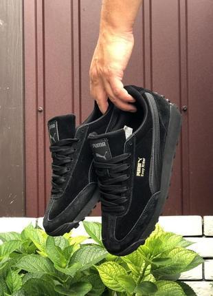 Стильные мужские кроссовки кеды демисезонные puma easy rider чёрные пума