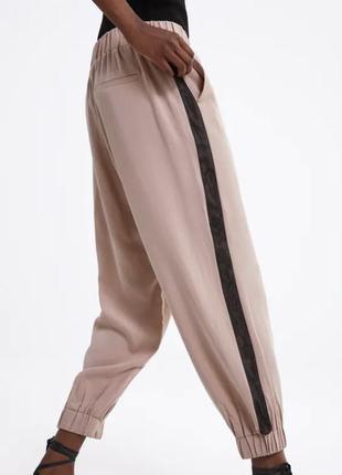 Zara спортивные штаны джогеры