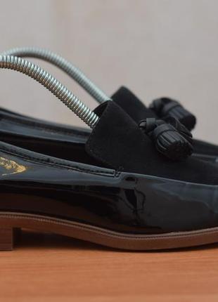 Черные женские лаковые туфли clarks, 37.5 размер. оригинал