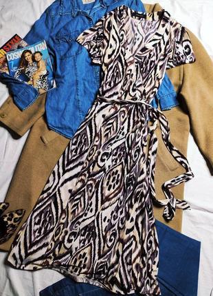 Principles платье миди с поясом с запахом белое бежевое чёрное