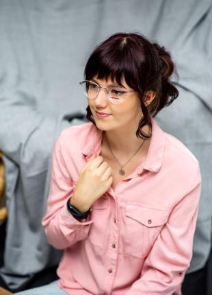 Женские очки безоправные оправа под установку линз треугольные линзы на узкое и среднее