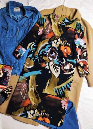 Marks spencer платье синее хаки белое голубое прямое с вырезом рукав 3/4
