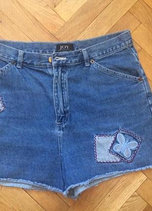 Летние джинсовые шорты,высокая талия от бренда joy