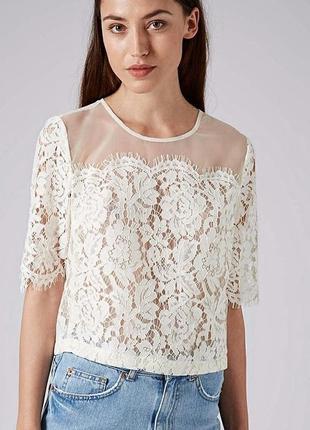 Красивый кружевной топ блуза top shop