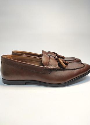 Туфли кожаные walk london лоферы коричневые бренд