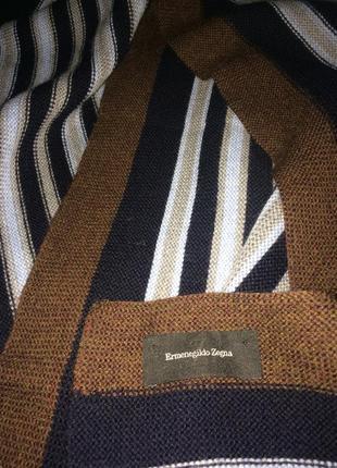 Ermenegildo zegna  премиум стильный мужской шарф 100% шерсть