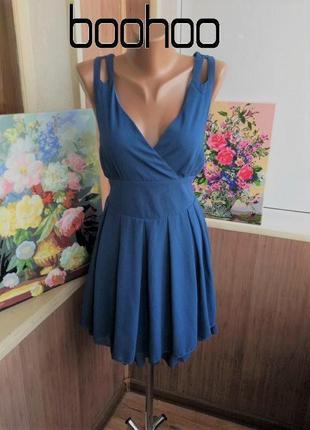 Нежное стройнящее шифоновое платье / большая распродажа!
