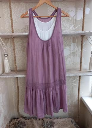 Шелковое платье,  платье-майка 2в1