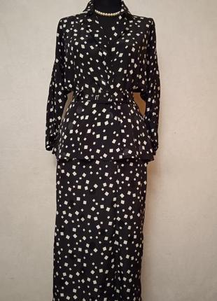 Стильное платье с баской ретро винтаж, англия