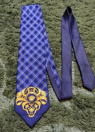 Винтажный шелковый галстук gianni versace