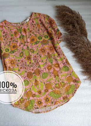 ✨неймовірна , віскозна , натуральна блуза із квітами ✨