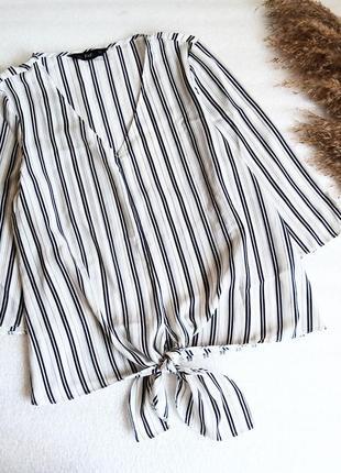 ✨класна ,базова блуза у смужку із зав'язками ✨