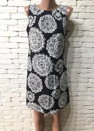 Чёрно-белое хлопковое платье