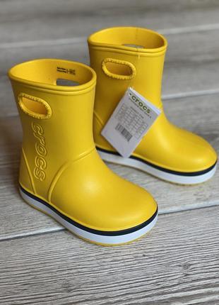 Резиновые сапожки crocs c7, c8, c9, c10, j1, j2, j3, гумачки крокс, гумові чобітки crocs