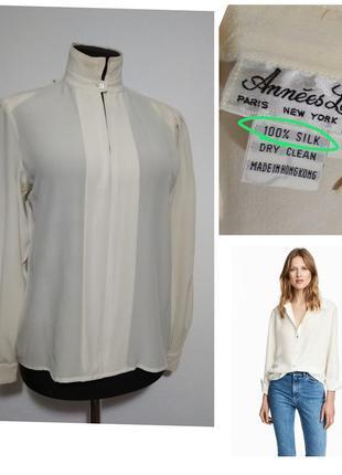 Роскошная фирменная винтажная шелковая блузка 100% шелк шовк