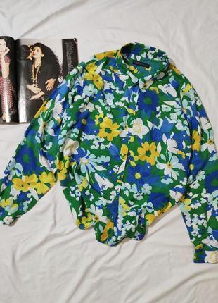 Marks & spencer яркая легкая рубашка uk 20