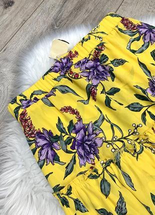 Яркая юбка асимметрия с цветочным принтом2 фото