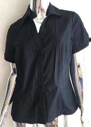 Блуза рубашка короткий рукав cotton next