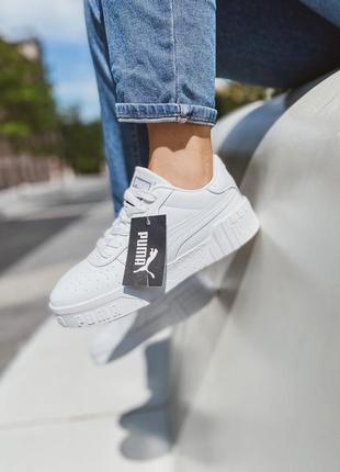 Женские кожаные кроссовки puma cali white