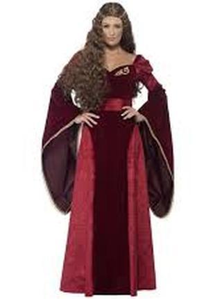 Среднековое платье костюм принцессы/ середньовічне плаття для карнавалу