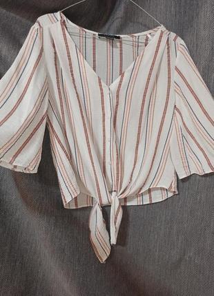 Віскозна блузка в полоску