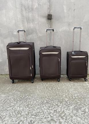 Чемодана большой на колёсах, дорожный средний чемодан на колёсах, валіза дорожня на колесах