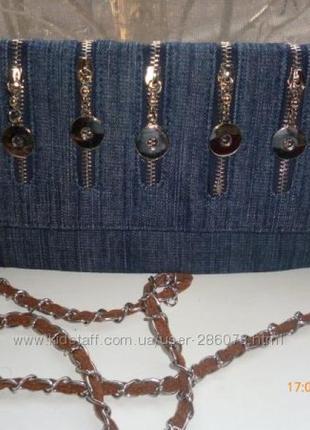 Модный джинсовый клатч