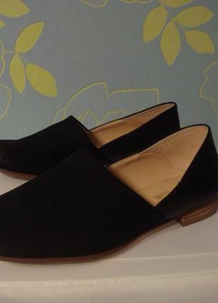 Мягчайшие кожаные туфельки clarks