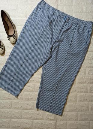 Идеальные укороченные штаны в клетку с карманами р.24