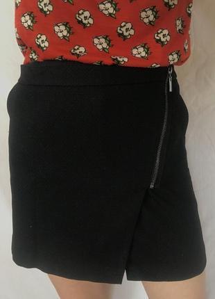Чорна міні спідниця  next з кишенями