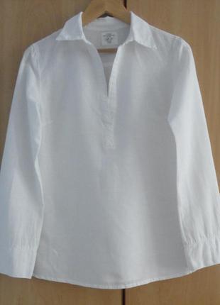 Супер брендовая белая блуза блузка рубашка лен