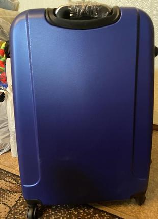Sale❗️чемодан дорожный пластиковый большой. валіза дорожня велика на колесах4 фото