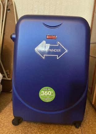 Sale❗️чемодан дорожный пластиковый большой. валіза дорожня велика на колесах1 фото