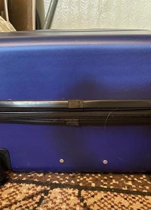 Sale❗️чемодан дорожный пластиковый большой. валіза дорожня велика на колесах2 фото