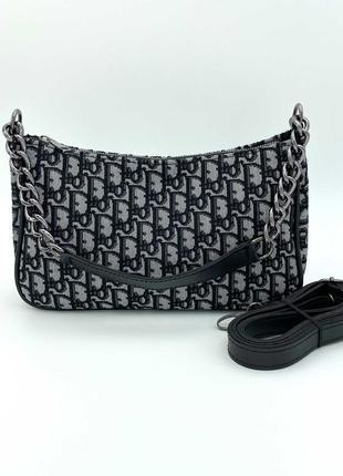 Женская сумка багет наплечная сумка клатч багет кроссбоди через плечо клатч на плечо
