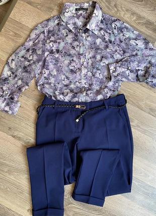 Комплект блузка и брюки kira plastinina, одежда для офиса, работы