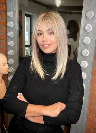 4️⃣0️⃣cm матовый парик блонд перука наращивание волос окрашивание осветление