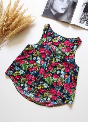 Ярка воздушная блуза/ принт цветы/ состояние идеальное