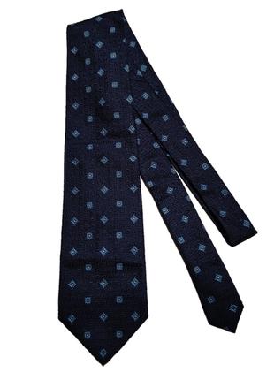 Шелковый галстук ysl yves saint laurent