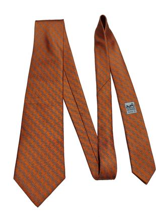 Шелковый галстук hermes