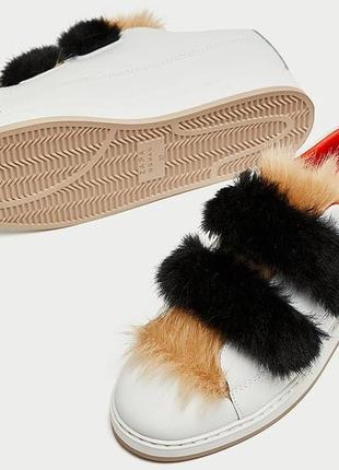 Оригинальные кожаные кроссовки zara woman 38-39