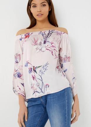 Блуза легкая новая шифоновая нежно розовая lipsy uk 12/40/m