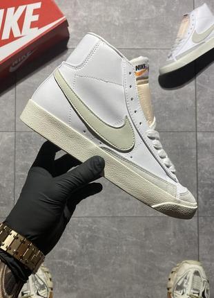 Кросівки nike blazer mid '77 white grey
