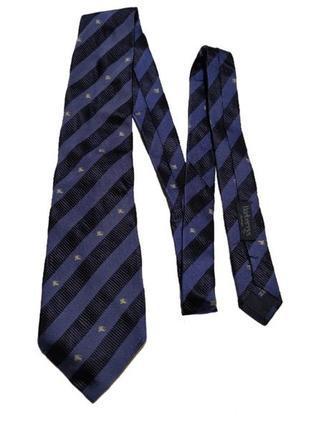 Винтажный шелковый галстук burberry's