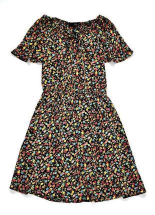 Next винтажное вискозное платье в цветочный принт. л.12.40.