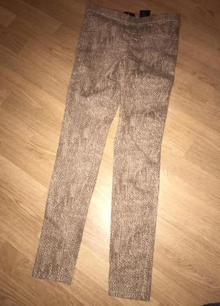 Облягаючі штани скіні h&m в зміїний принт