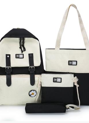 Рюкзак женский городской молодежный комплект (без ромашки)