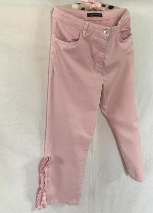 Розові джинси з розрізами zara