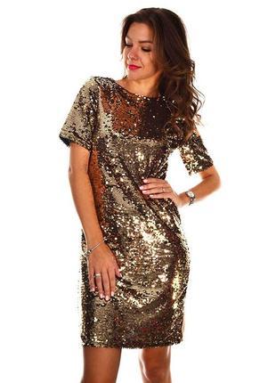 Нарядное платье в паетки 46-48размера